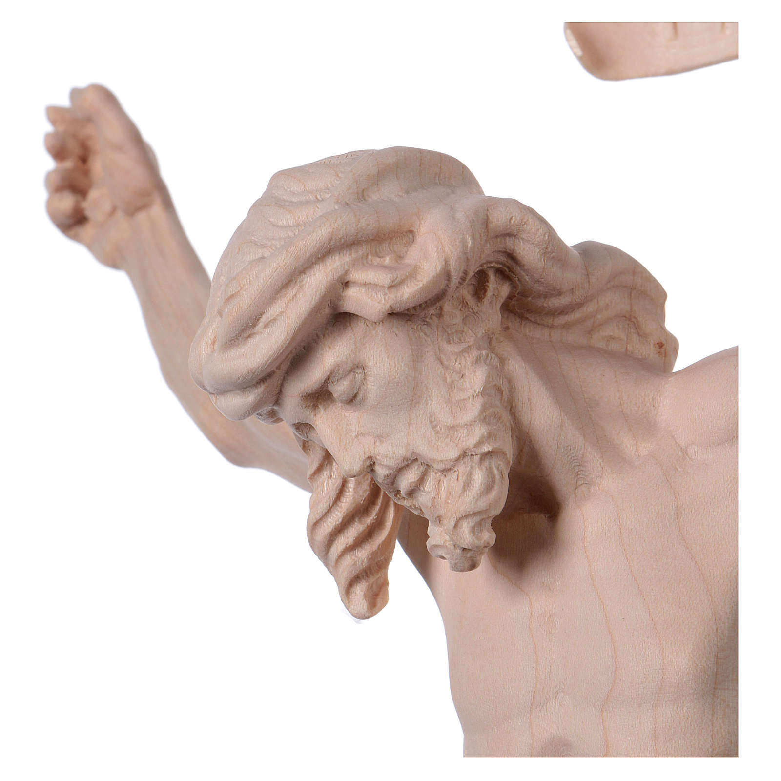 Christ's body Leonardo in natural wood 4