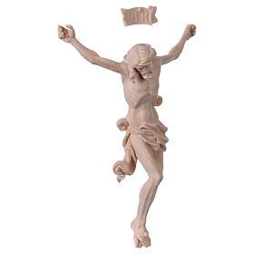 Christ's body Leonardo in natural wood s4