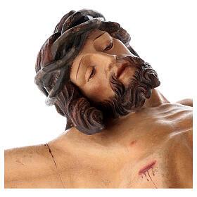 Leib Christi Mod. Leonardo Grödnertal Holz antikisiert s5