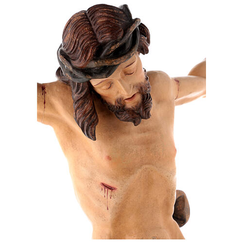 Leib Christi Mod. Leonardo Grödnertal Holz antikisiert 7