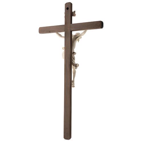 Crucifix bois Val Gardena et Corps de Christ cire fil d'or 5