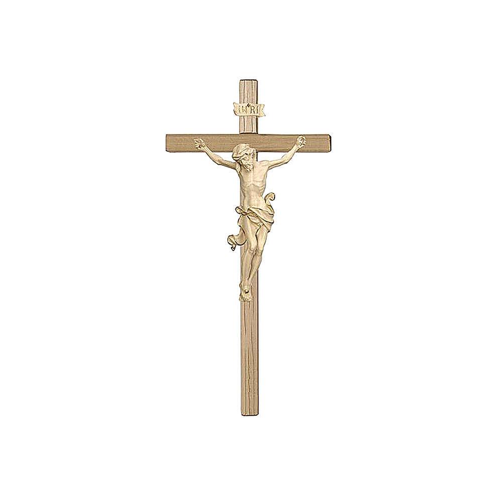 Crocefisso legno Val Gardena e Corpo di Cristo cera filo d'oro 4
