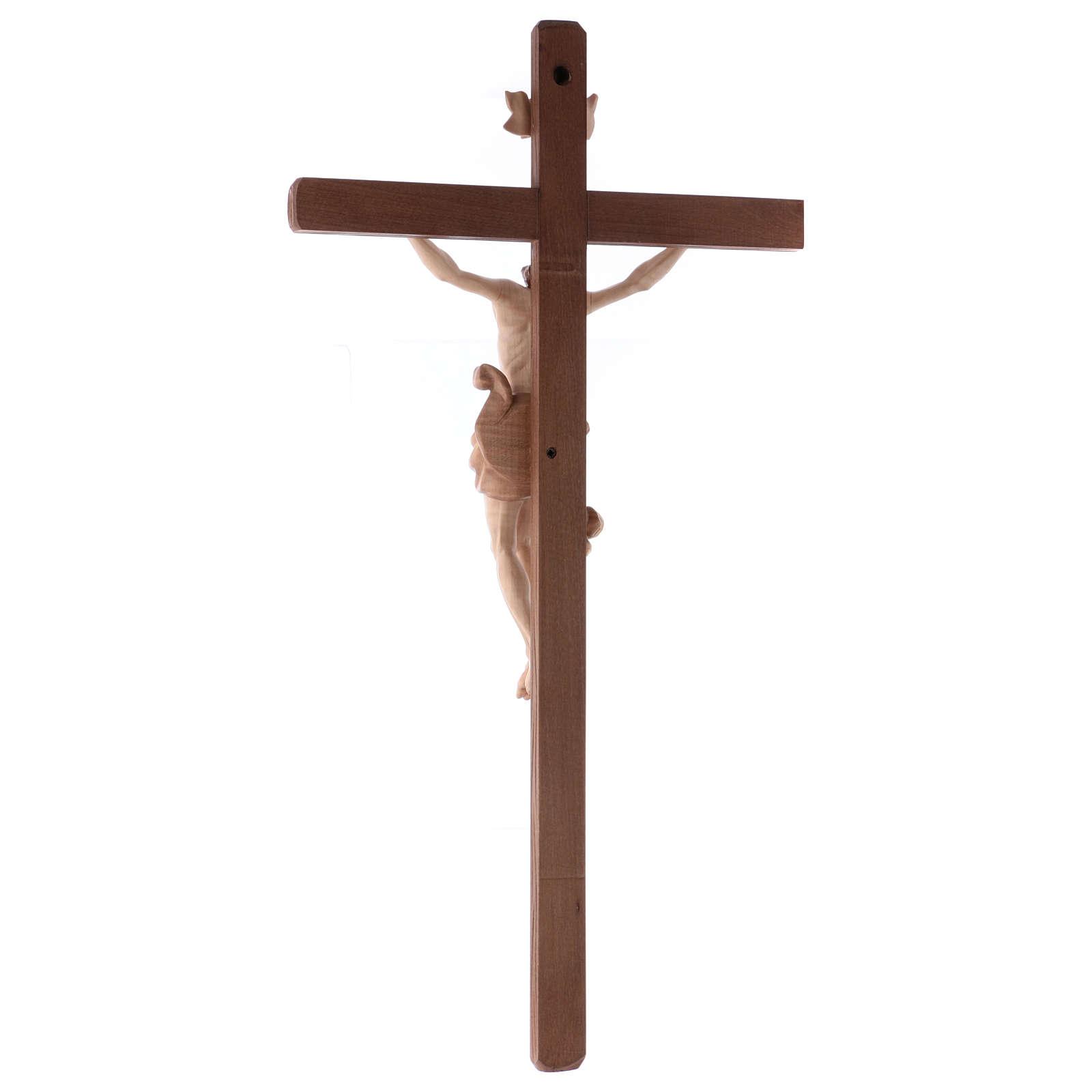 Crucifix Christ bruni 3 tons bois Val Gardena 4