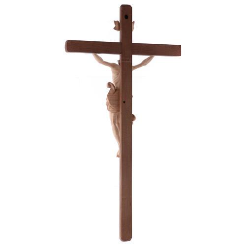 Crucifix Christ bruni 3 tons bois Val Gardena 5