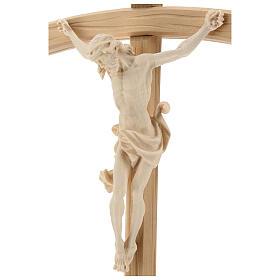 Kruzifix Mod. Leonardo kurven Kreuz Grödnertal Naturholz s3