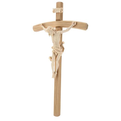 Kruzifix Mod. Leonardo kurven Kreuz Grödnertal Naturholz 2