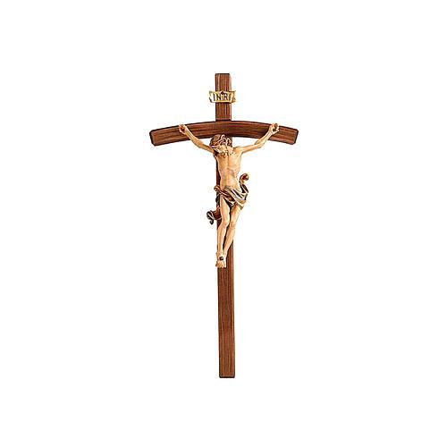 Crocefisso corpo Cristo colorato modello Leonardo e croce curva 1