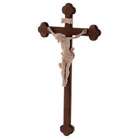 Cristo Leonardo natural y cruz bruñida barroca s3