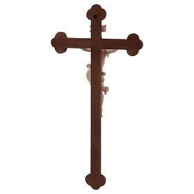 Cristo Leonardo natural y cruz bruñida barroca s5