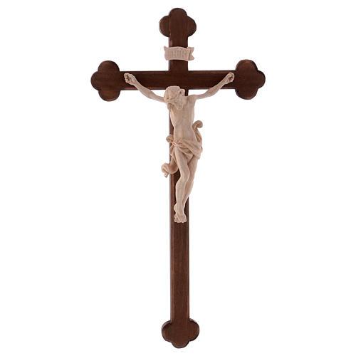 Cristo Leonardo natural y cruz bruñida barroca 1