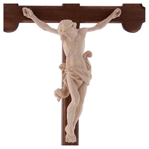 Cristo Leonardo natural y cruz bruñida barroca 2