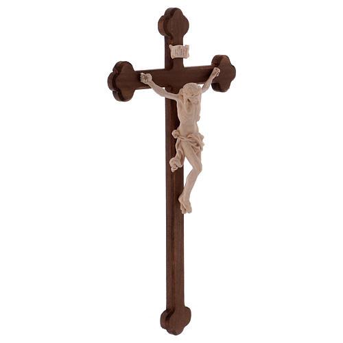 Cristo Leonardo natural y cruz bruñida barroca 4