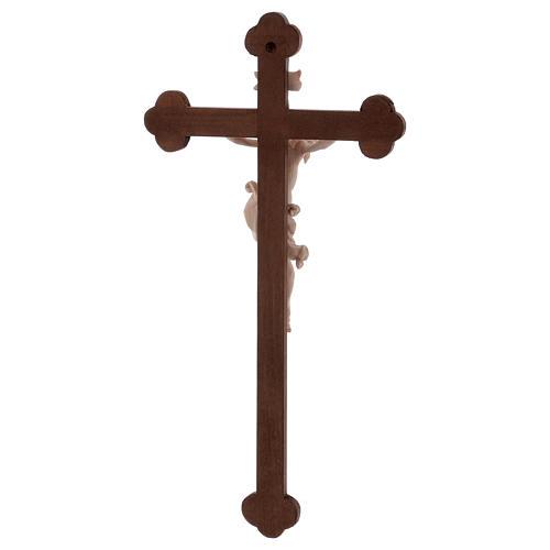 Cristo Leonardo natural y cruz bruñida barroca 5