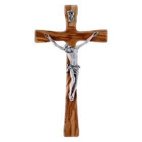 Crocifisso in legno di olivo moderno 20 cm s4