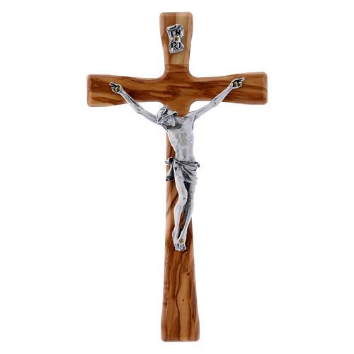 Crocifisso in legno di olivo moderno 20 cm 1