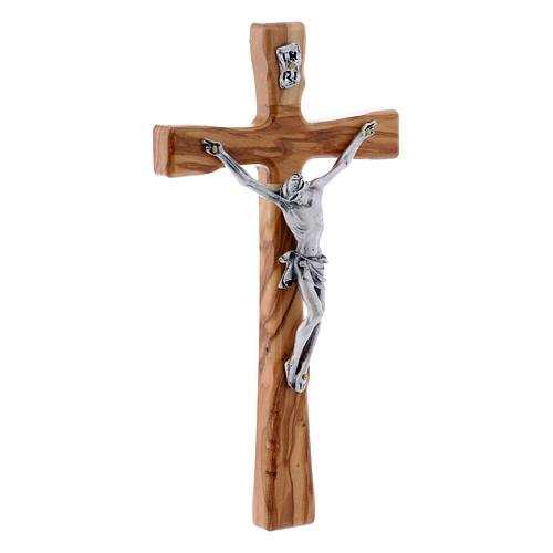 Crocifisso in legno di olivo moderno 20 cm 5