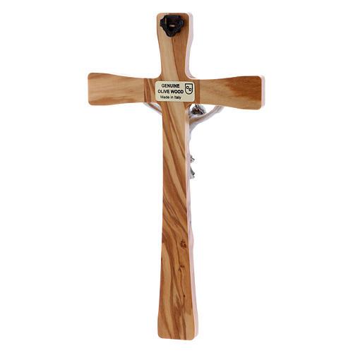 Crocifisso in legno di olivo moderno 20 cm 6