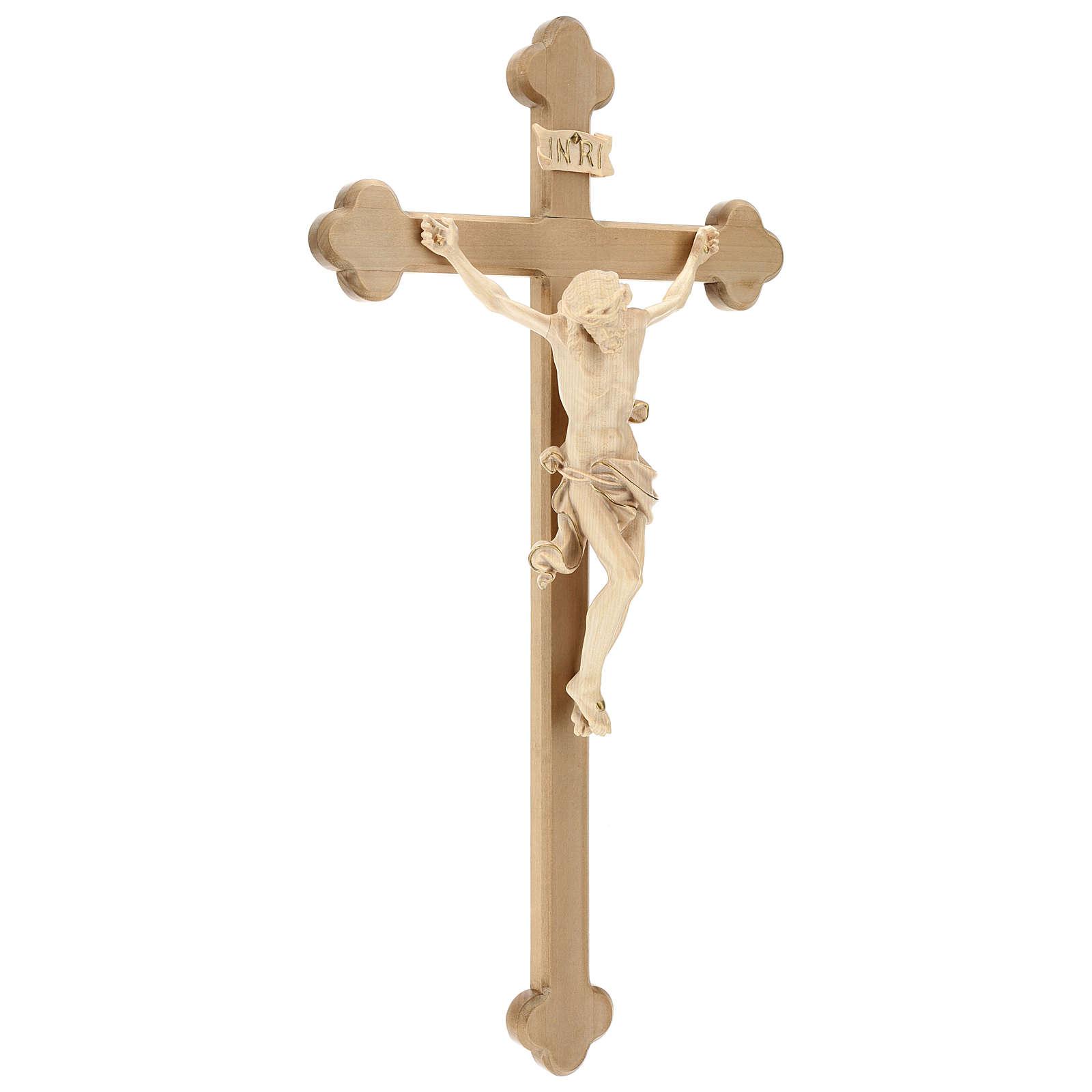 Crucifijo Leonardo cruz barroca bruñida cera hilo oro 4
