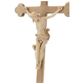 Crucifijo Leonardo cruz barroca bruñida cera hilo oro s2