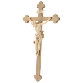 Crocefisso Leonardo croce barocca brunita cera filo oro s3