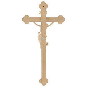 Crocefisso Leonardo croce barocca brunita cera filo oro s5