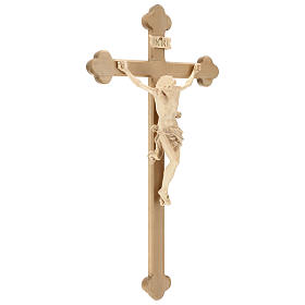 Leonardo crucifix with Baroque cross burnished in colourless wax and gold thread s4