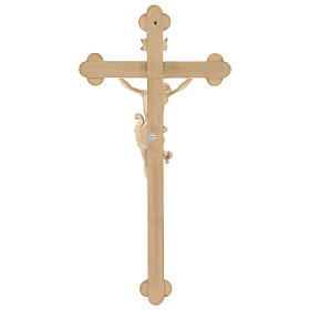 Leonardo crucifix with Baroque cross burnished in colourless wax and gold thread s5