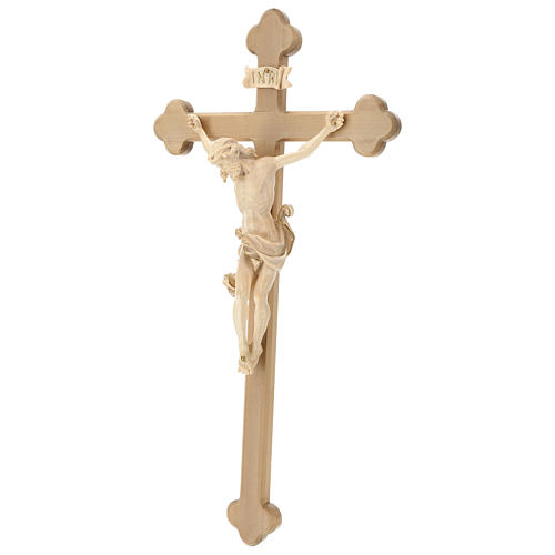 Leonardo crucifix with Baroque cross burnished in colourless wax and gold thread 3