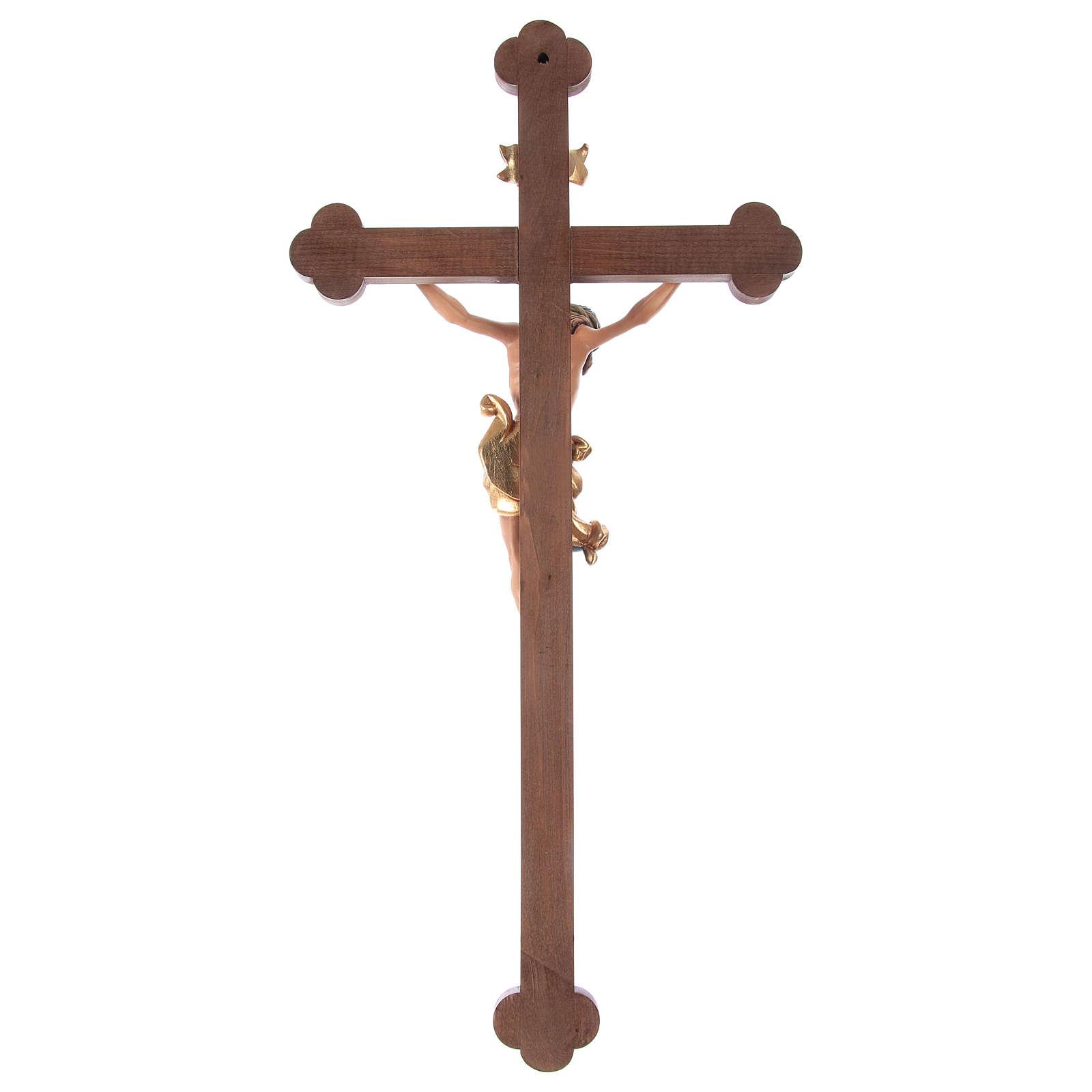 Crucifijo coloreado Leonardo cruz barroca bruñida 4