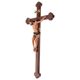 Crucifijo coloreado Leonardo cruz barroca bruñida s4