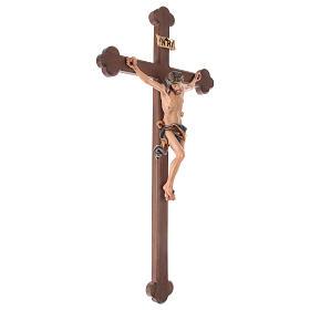 Crucifijo coloreado Leonardo cruz barroca bruñida s5