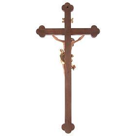 Crucifijo coloreado Leonardo cruz barroca bruñida s6