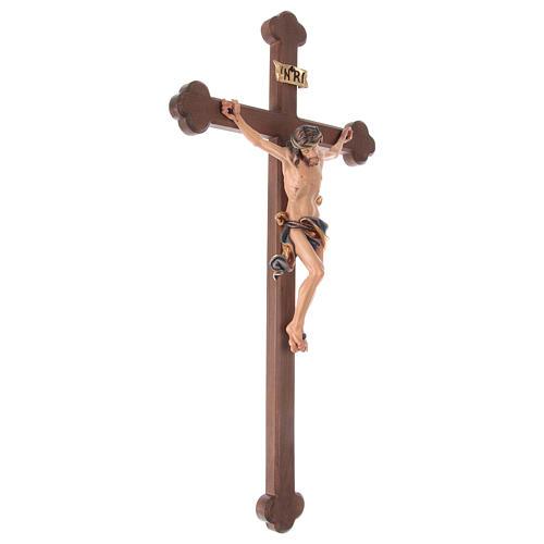 Crucifijo coloreado Leonardo cruz barroca bruñida 5