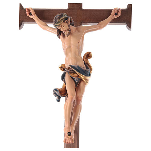Crucifixo corado Leonardo cruz barroca brunida 3