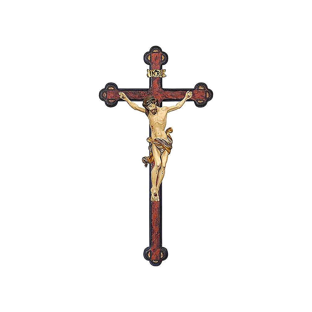 Leonardo crucifix in pure gold with antique Baroque cross 4