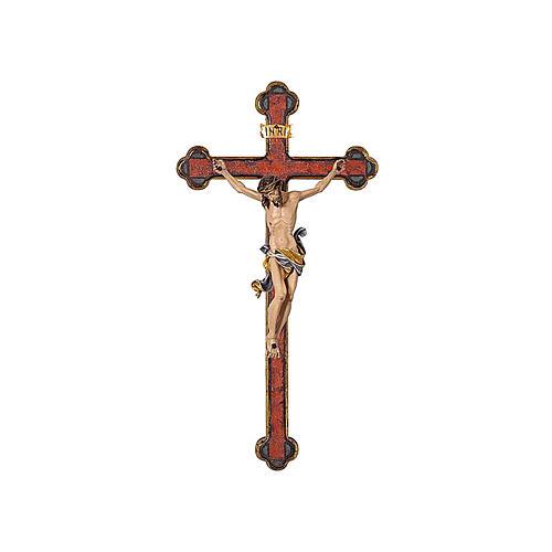 Crucifijo coloreado Leonardo cruz oro barroca 1