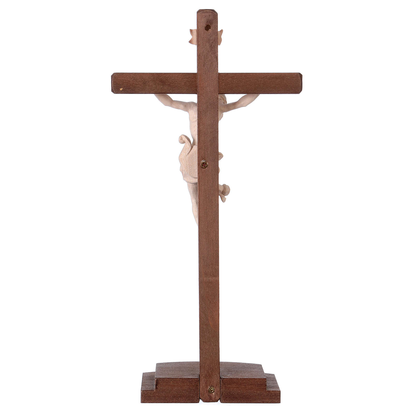 Leonardo crucifix in natural wood with cross and base 4