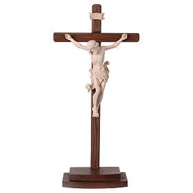 Leonardo crucifix in natural wood with cross and base s1