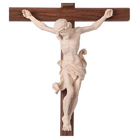 Leonardo crucifix in natural wood with cross and base s2