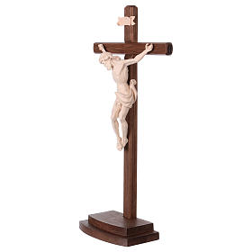 Leonardo crucifix in natural wood with cross and base s3