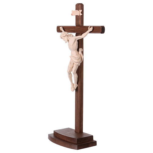 Leonardo crucifix in natural wood with cross and base 3