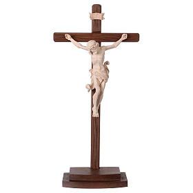 Crucifix naturel Léonard croix avec base s1