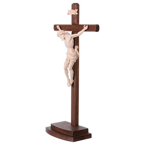 Crucifix naturel Léonard croix avec base 3
