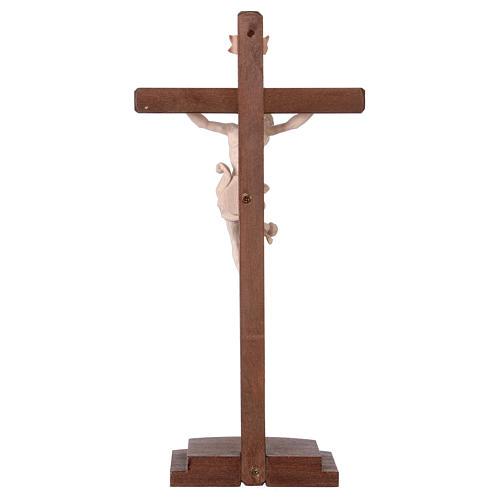 Crucifixo natural Leonardo cruz com base 5
