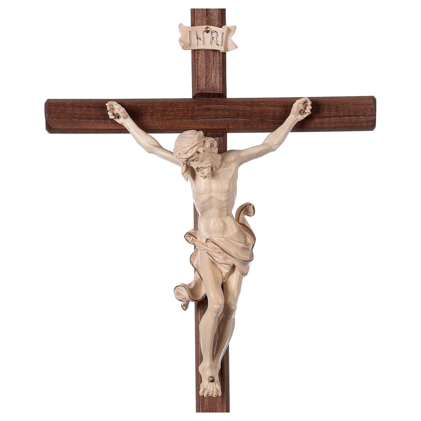 Crucifijo Leonardo cruz con base cera hilo oro 4