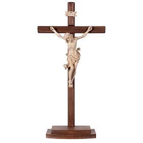 Crucifijo Leonardo cruz con base cera hilo oro s1