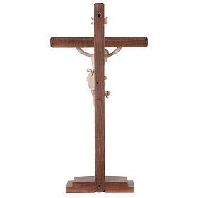 Crucifijo Leonardo cruz con base cera hilo oro s7