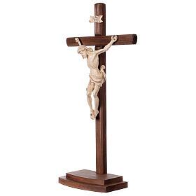 Crucifix Léonard croix avec base cire fil or s3