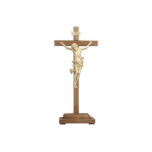 Crocefisso Leonardo croce con base cera filo oro 1