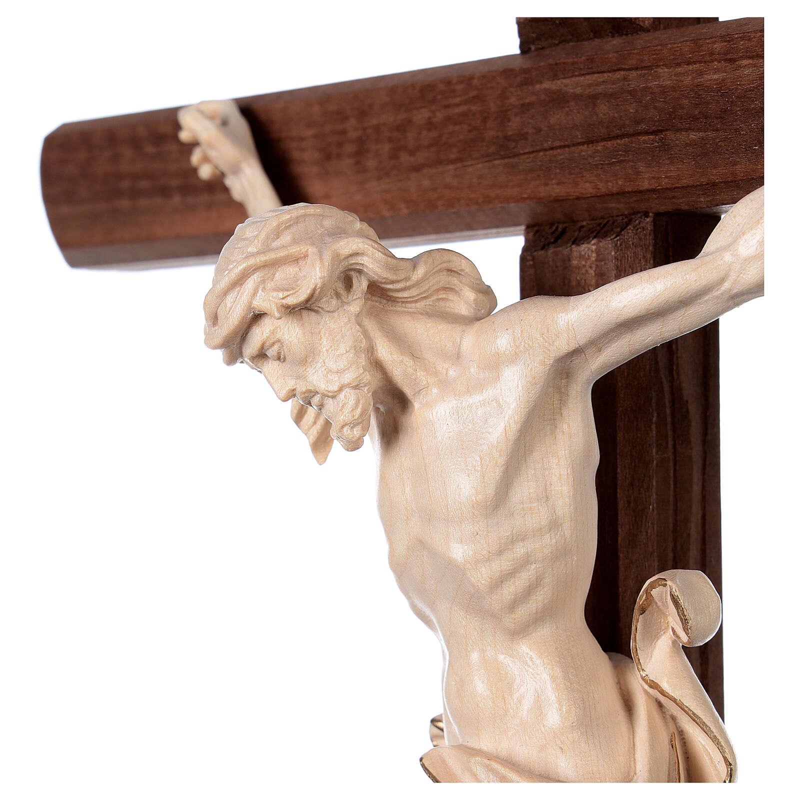 Crucifixo Leonardo cruz com base cera fil ouro 4